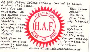 Typewriter TAG... H.A.F.