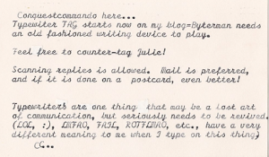 Typewriters!