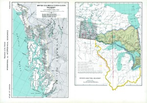 BRITISH COLUMBIA & YUKON-ALASKA BORDER DISPUTES EARLY 1900'S