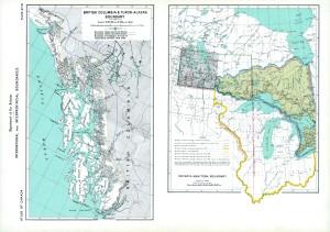 BRITISH COLUMBIA & YUKON-ALASKA BORDER DISPUTES EARLY 1900'S
